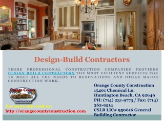 Home Remodeling Services Offered by Orange County Construct