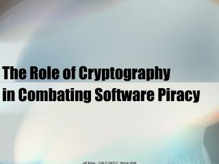 The Role of Cryptography