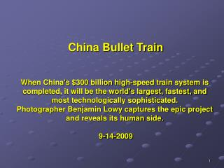 When Chinas 300 billion high-speed train system is completed, it will be the worlds largest, fastest, and most technolog