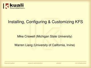 Technical Review of PURAP An in-depth technical look at the KFS Purchasing