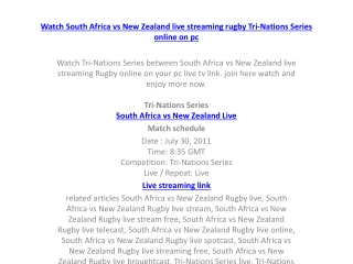 watch south africa vs new zealand live streaming rugby tri-n