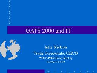 GATS 2000 and IT