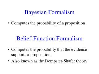 Belief-Function Formalism