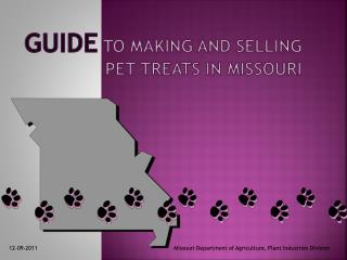 Guide to making and selling Pet Treats in Missouri