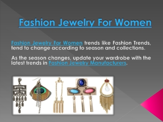 Fashion Jewelry for Women