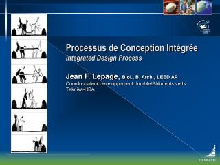 Processus de Conception Int gr e Integrated Design Process
