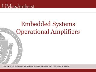 Embedded Systems Operational Amplifiers