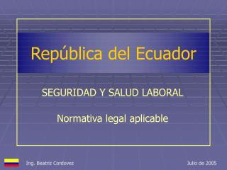 Rep blica del Ecuador