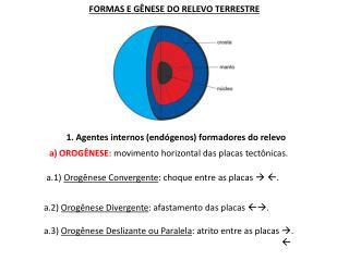 FORMAS E G NESE DO RELEVO TERRESTRE