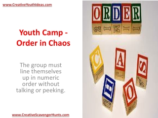 Youth Camp - Order in Chaos