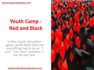 Youth Camp - Red and Black