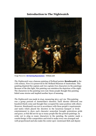 Introduction to The Nightwatch