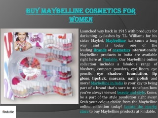 Maybelline Cosmetics for Women in India