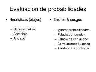 Evaluacion de probabilidades