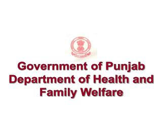 Government of Punjab Department of Health and Family Welfare