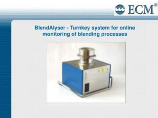 BlendAlyser - Turnkey system for online monitoring of blending processes