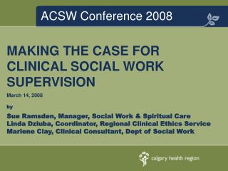 ACSW Conference 2008
