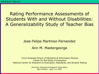 Rating Performance Assessments of Students With and Without Disabilities: A Generalizability Study of Teacher Bias