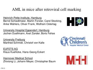 AML in mice after retroviral cell marking