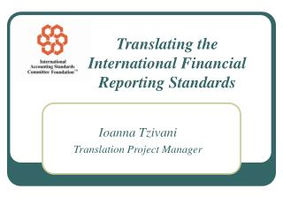 Translating the International Financial Reporting Standards