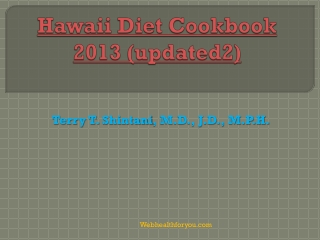 Hawaii Diet Cookbook 2013 (updated2)