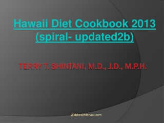 Hawaii Diet Cookbook 2013 (spiral- updated2b) 9