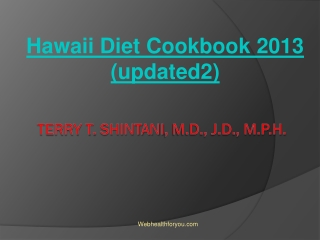 Hawaii Diet Cookbook 2013 (updated2) 9