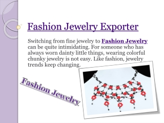 Fashion Jewelry Exporter