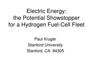 Electric Energy: the Potential Showstopper for a Hydrogen Fuel-Cell Fleet