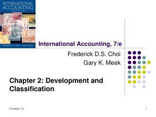 International Accounting, 7