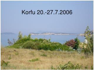 Korfu 20.-27.7.2006