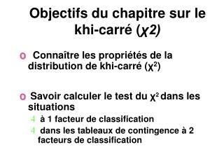 Objectifs du chapitre sur le khi-carr  2