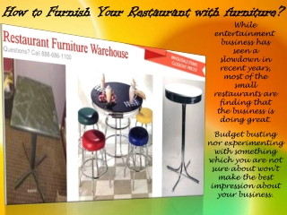 How to Furnish Your Restaurant with furniture?
