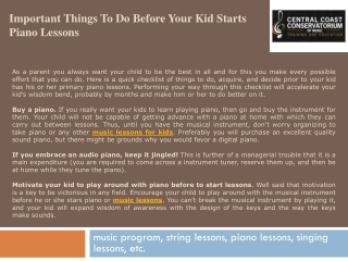 Important Things to Do Before Your Kid Starts Piano Lessons