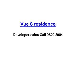 vue 8 residence