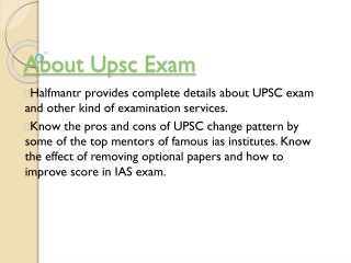 About upsc Exam
