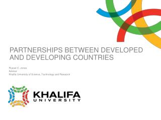 PARTNERSHIPS BETWEEN DEVELOPED AND DEVELOPING COUNTRIES