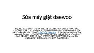 S?a m�y gi?t daewoo