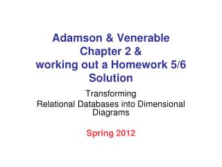Adamson  Venerable  Chapter 2  working out a Homework 5