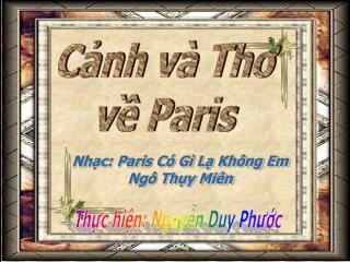 Cnh v  Tho v Paris