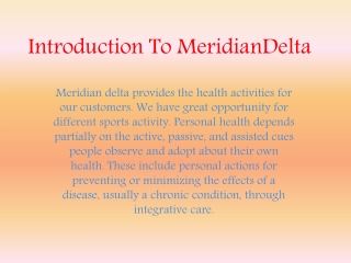 meridian delta review