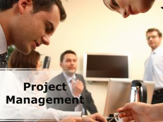 project management (modern) powerpoint presentation content: