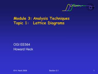 Module 3: Analysis Techniques Topic 1:  Lattice Diagrams