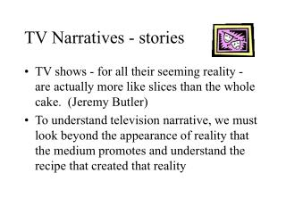 TV Narratives - stories