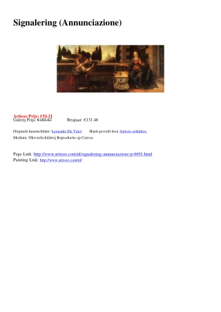 Signalering (Annunciazione) - Artisoo.com