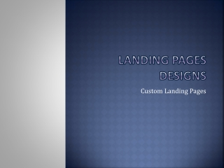 Landing Pages Designs