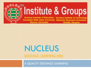 A QUALITY DISTANCE LEARNING