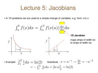 Lecture 5: Jacobians