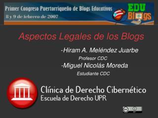 Aspectos Legales de los Blogs