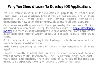 apple iphone app development